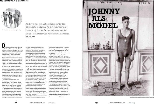 www.zuiderlucht.eu29 mei 2014www.zuiderlucht.eu28 mei 2014 JOHNNY ALS MODEL MUSEUM VAN DE SPORT 4 Johnny Weissmuller rond ...