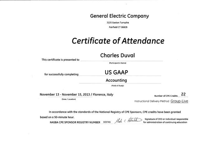 US GAAP accounting certification