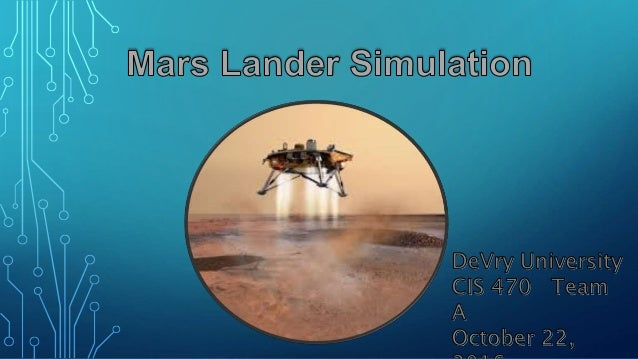 mars landing simulation - photo #2