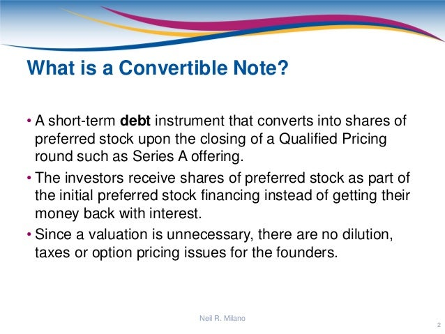 Convertible Note Presentation
