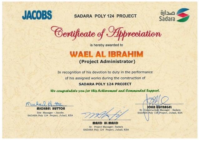 Of appreciation awarded sadara 2013 certificate of appreciation awarded sadara 2013 yelopaper Gallery