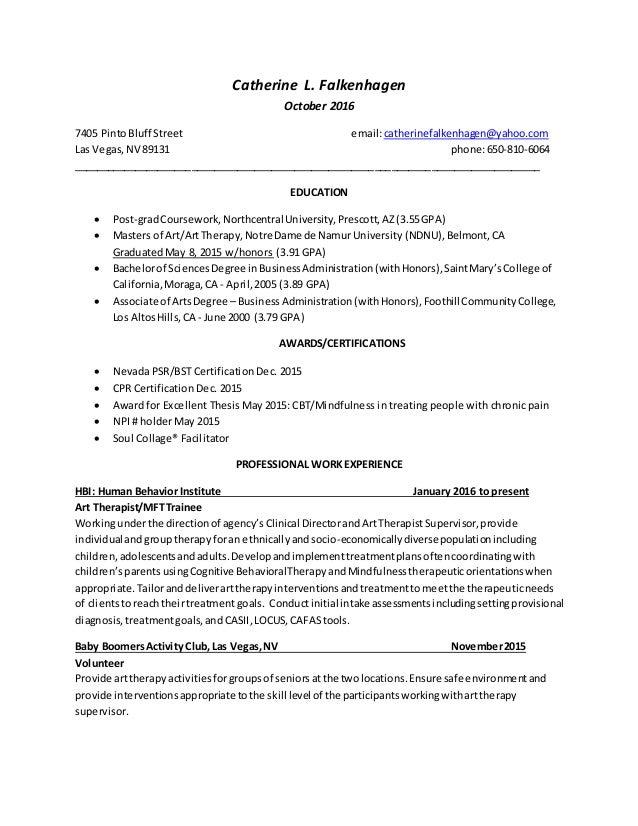 Resume Oct 2016