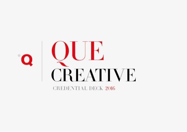 QUE IntroDeck 2016