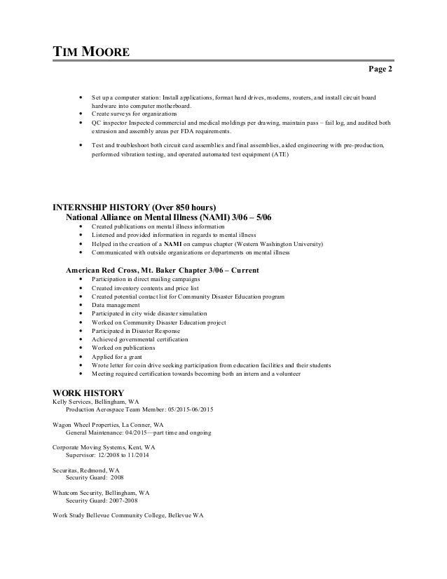 One Page Resume Template Skills Based