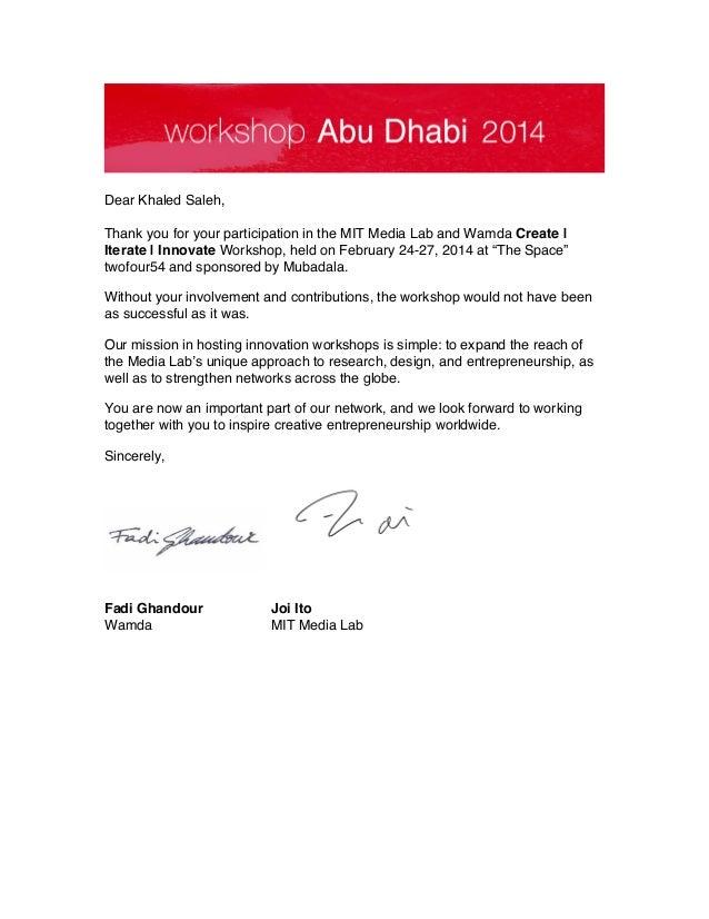 Khaled Saleh Letter of Participation