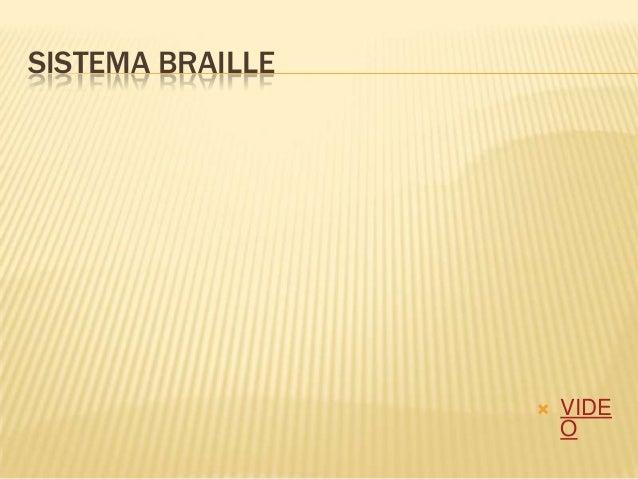 SISTEMA BRAILLE VIDEO