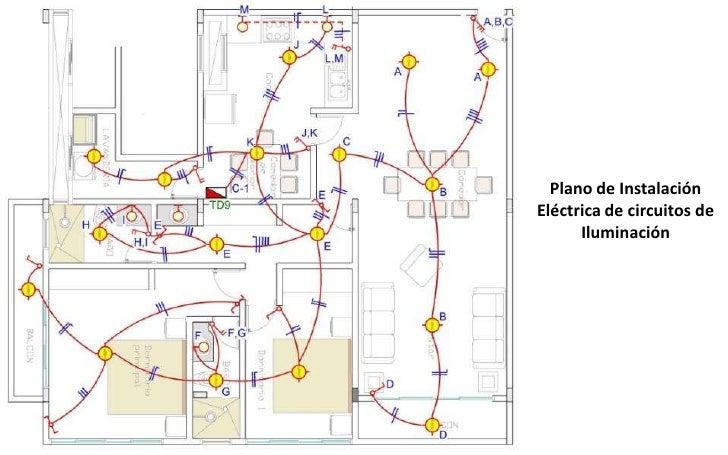 4 dise o de instalaciones de una vivienda for Plano instalacion electrica
