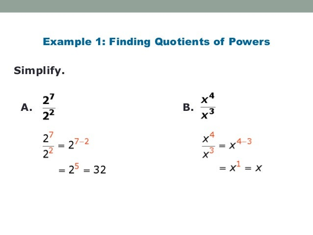 Division Properties of Exponents – Properties of Exponents Worksheet Answers