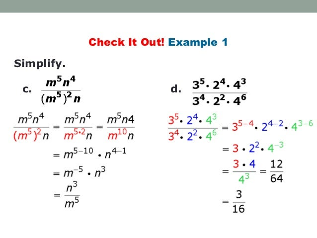 Division Properties of Exponents – Properties of Exponents Worksheets