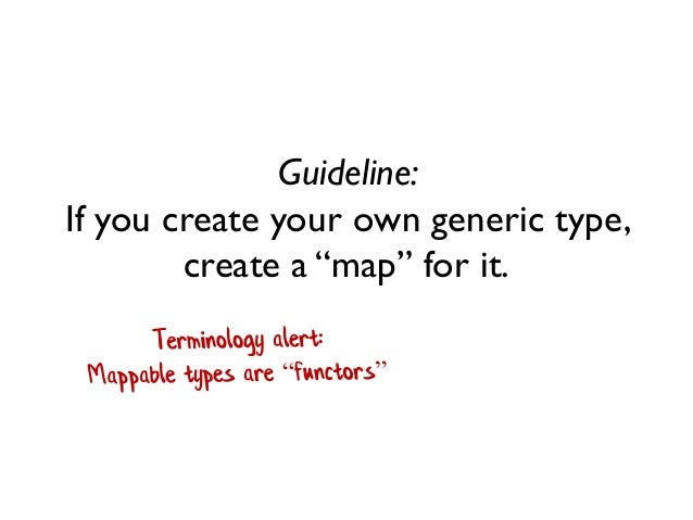 """Guideline: If you create your own generic type, create a """"map"""" for it."""