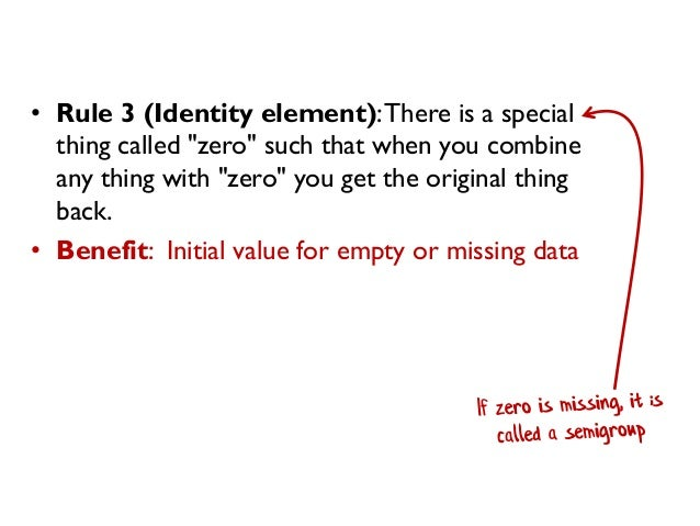"""• Rule 3 (Identity element):There is a special thing called """"zero"""" such that when you combine any thing with """"zero"""" you ge..."""