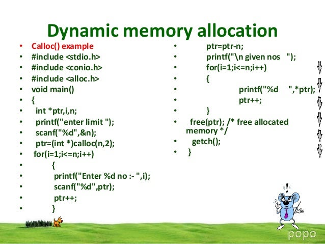 dynamic memory allocation What is memory allocation • dynamically allocate/deallocate memory • as  opposed to static allocation • common problem in both user space and os  kernel.