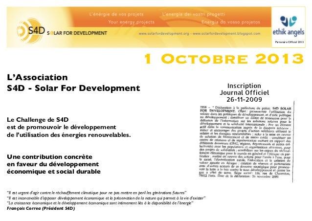 Partenaire Officiel 2013                                                                                1 Octobre 2013L'Ass...
