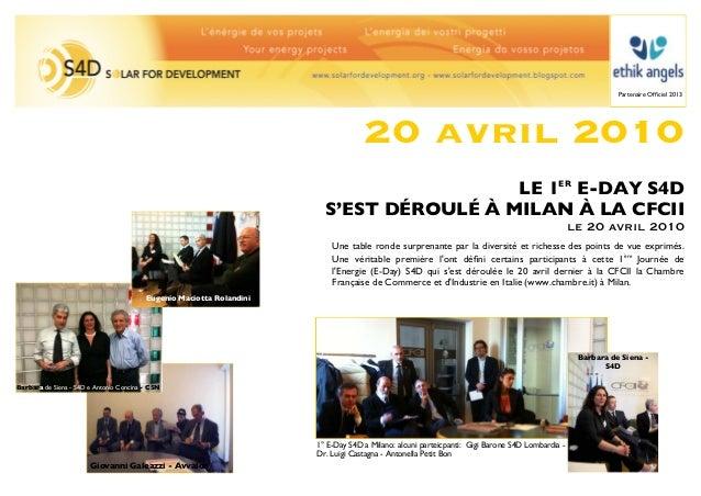 Partenaire Officiel 2013                                                                                   20 avril 2010   ...