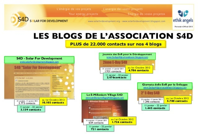 Partenaire Officiel 2013                    LES BLOGS DE L'ASSOCIATION S4D                                                 ...
