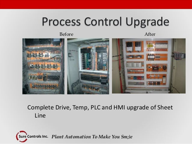Plant Automation To Make You Sm;)e Process Control Upgrade Complete Drive, Temp, PLC and HMI upgrade of Sheet Line Before ...
