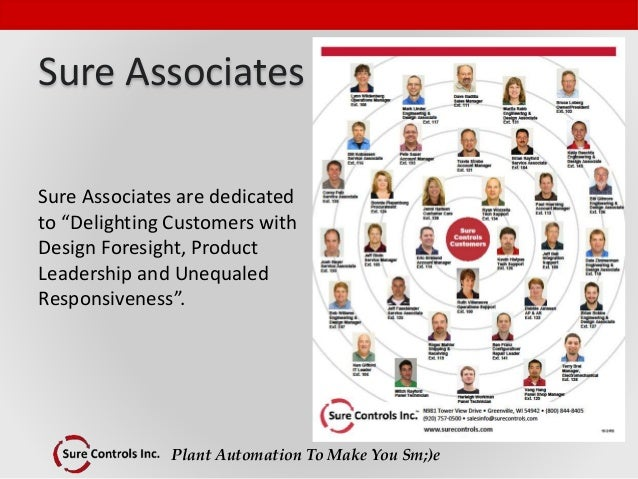 """Plant Automation To Make You Sm;)e Sure Associates Sure Associates are dedicated to """"Delighting Customers with Design Fore..."""