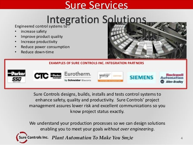 Plant Automation To Make You Sm;)e Engineered control systems to : • increase safety • Improve product quality • Increase ...