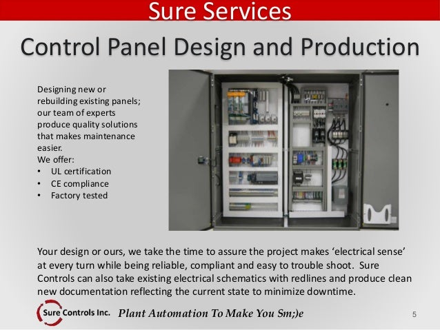 Plant Automation To Make You Sm;)e Designing new or rebuilding existing panels; our team of experts produce quality soluti...