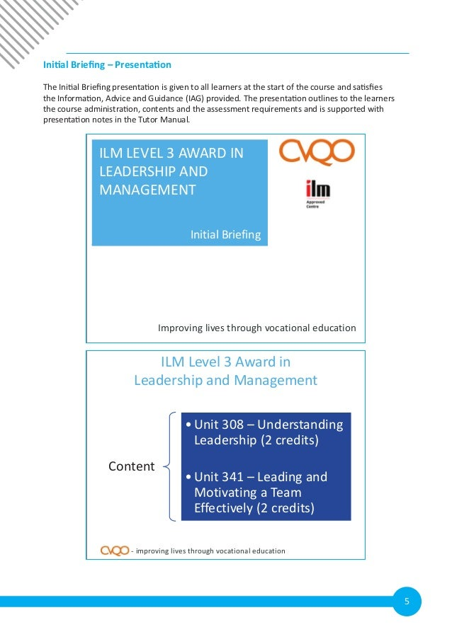 ilm level 3 understanding leadership essay The ilm level 3 is a first line management course which gives an introduction to the basic skills, knowledge, and understanding required by today's first line manager the course is designed for first line managers looking to develop a wide range of management and leadership skills suitable for.