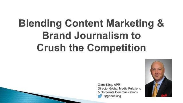 Gene King, APR Director Global Media Relations & Corporate Communications @geneaking
