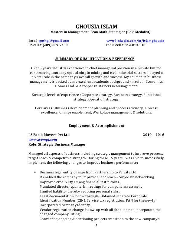 Ghousia Islam Resume updated