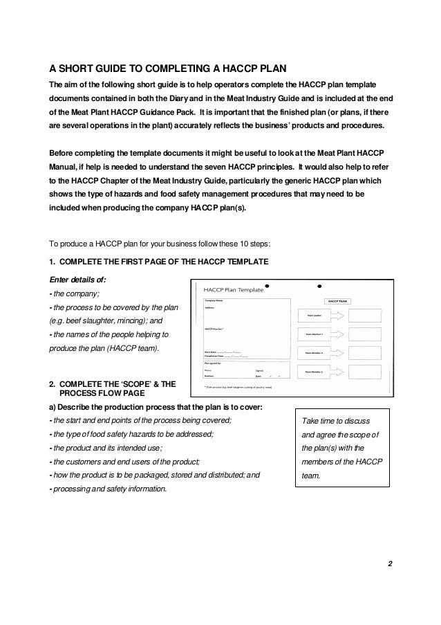 A Short Guide to HACCP Plan