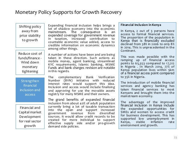 monetary policy price stability and economic growth in nigeria Why nigeria's monetary policy rates, parameters were or release funds needed to stimulate the growth of the economy as the resolution took into consideration the challenges the domestic economy was facing and opportunities for achieving price stability, conducive to growth in.