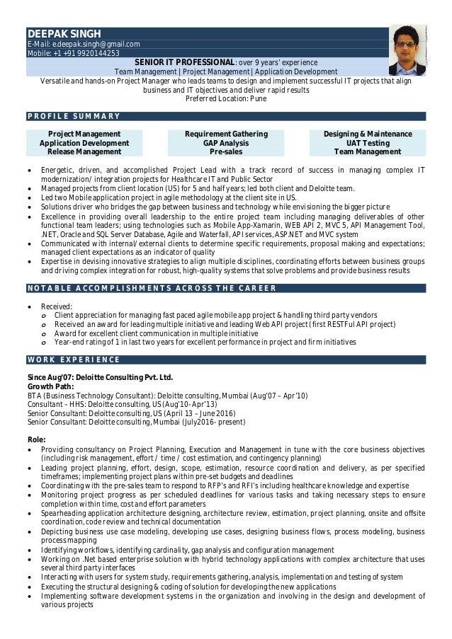 Latest Resume- Deepak Singh