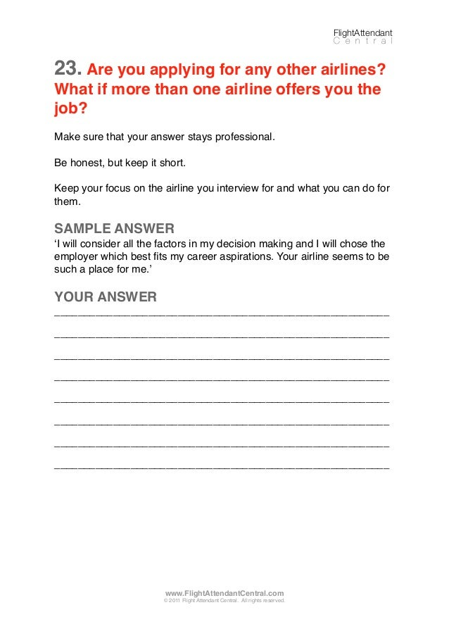 25 QUESTIONS AND ANSWERS FOR CABIN CREW FINAL INTERVIEW