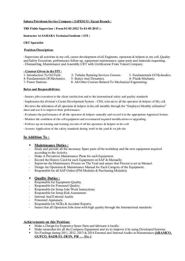 resume field service and not jobs ly sle