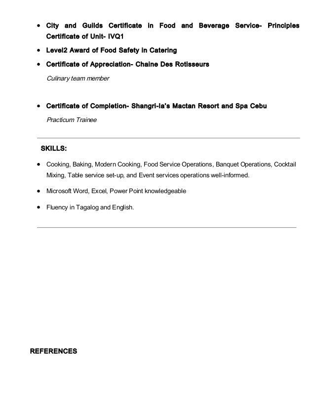 Sample Resume  Food And Beverage Director Resume Lab  Doc