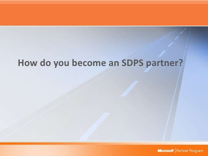 How do you become an SDPS partner?<br />