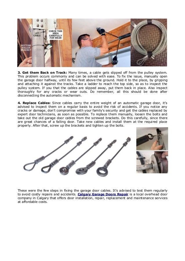 4 Easy Steps To Fix A Broken Garage Door Cable