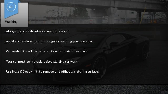 4 easy steps to keep your black car ever shining