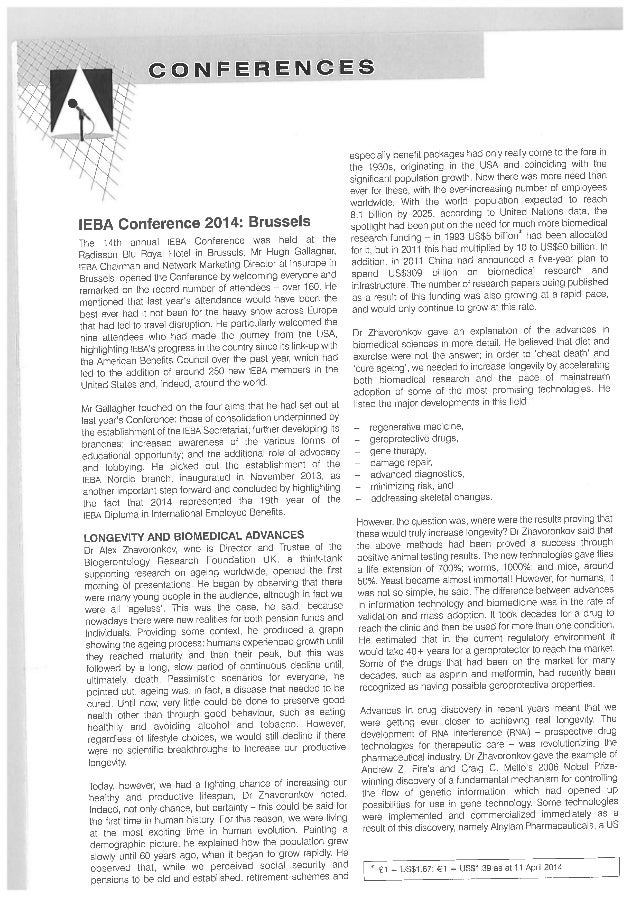 Excerpt Benefits&Comp Intl, p.21-22, May 2014