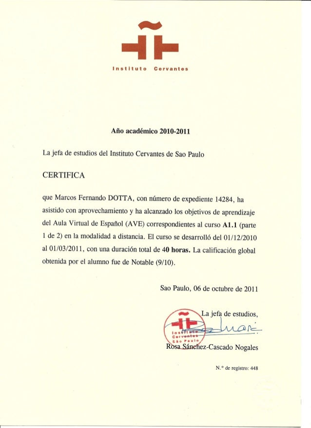 Spanish Certificate Basic 1 Cervantes