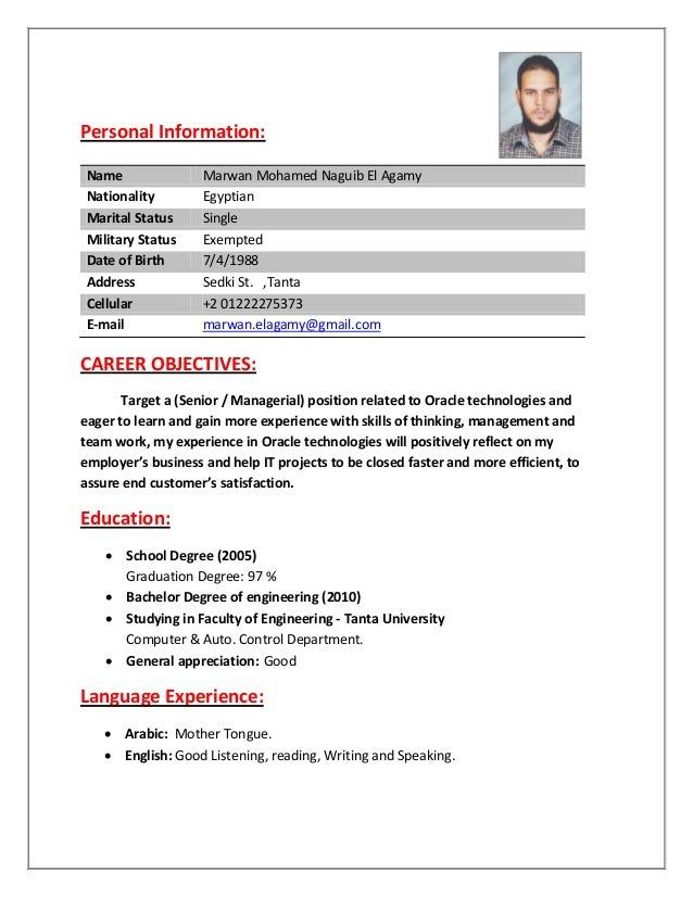 oracle apps developer cv