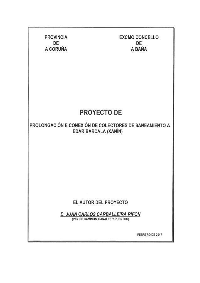 Proxecto de colectores de saneamento da EDAR Barcala (Xanín)