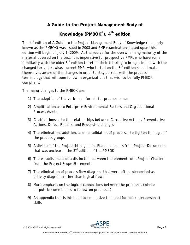 Pmbok project essay