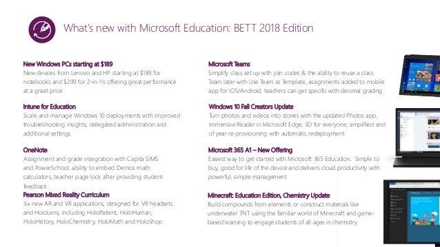 2018 Education Ambassador Program: Microsoft Presentation
