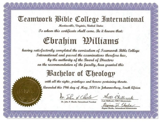 free online degree courses in theology