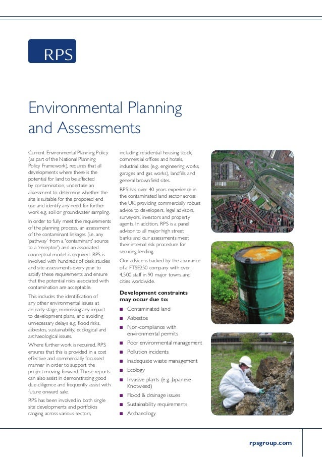 rpsgroup.com Environmental Planning and Assessments Current Environmental Planning Policy (as part of the National Plannin...
