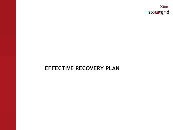 EFFECTIVE RECOVERY PLAN
