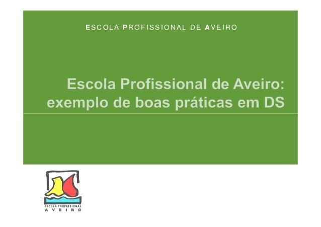 ESCOLA PROFISSIONAL DE AVEIRO