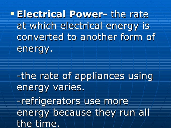 4 electrical power and energy