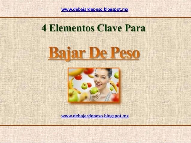 www.debajardepeso.blogspot.mx