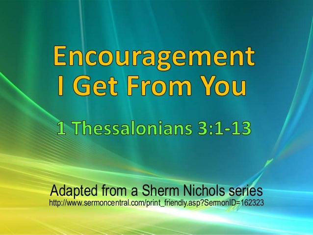 Adapted From A Sherm Nichols Series Sermoncentral