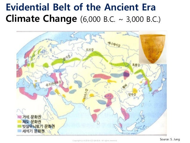 Copyrightⓒ(사)유라시안네트워크. All rights reserved. Evidential Belt of the Ancient Era Climate Change (6,000 B.C. ~ 3,000 B.C.) So...