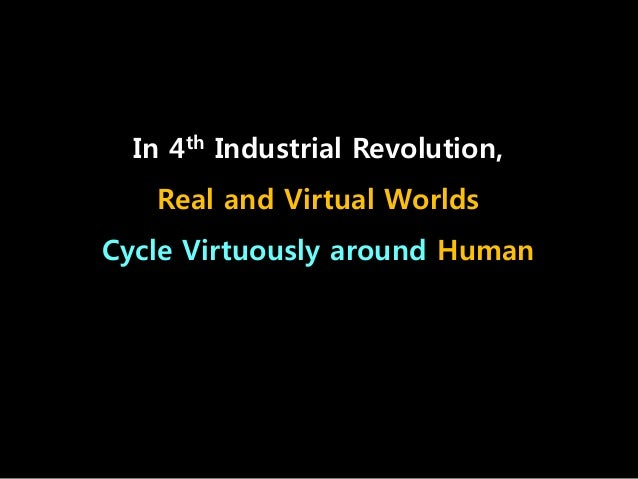 In 4th Industrial Revolution, Real and Virtual Worlds Cycle Virtuously around Human